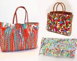 Em sentido horário, as bolsas Birkin, da Hermès, Chanel e Goyard