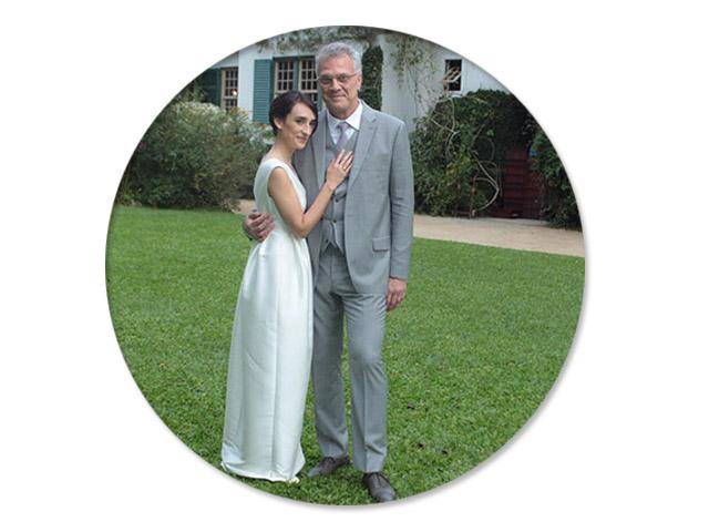 Maria Prata e Pedro Bial    Créditos: AgNews