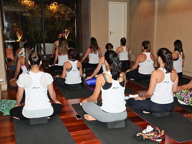 A aula de yoga