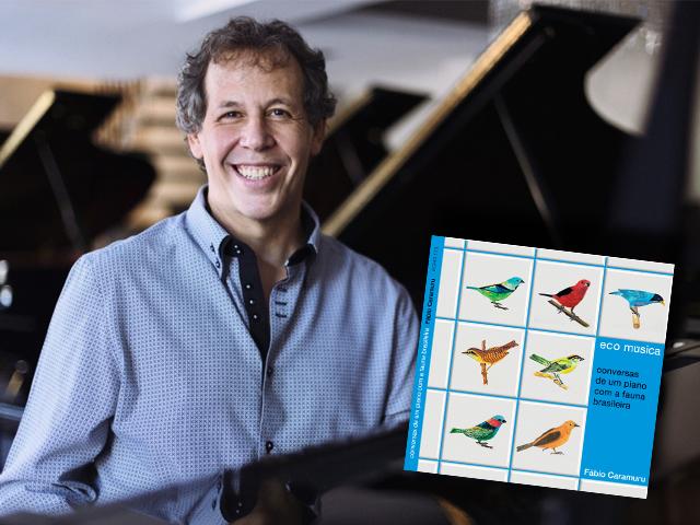 O álbum tem projeto gráfico de Guto Lacaz e traz faixas que misturam piano com sons da natureza    Créditos: Reprodução