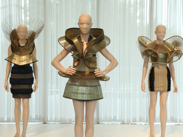 "Inside the ""Iris van Herpen: Transforming Fashion""  exhibition."