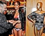 André Lima acerta detalhes na modelo