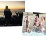Gwyneth em foto ao lado da filha Apple e com o namorado Brad Falchuk