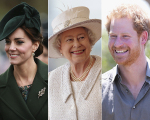 Kate Middleton, Rainha Elizabeth II e Príncipe Harry