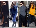 Victoria Beckham e seu uniforme de inverno: mangas longas, gola alta e volume