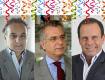 Tripoli (esq) fará reuniões internas; Matarazzo (meio), visitas a militantes; Doria (dir) fica com a família