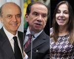 Serra, Aloysio Nunes e Mara Gabrilli: possíveis tucanos no ninho de Temer