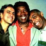 112 - Pasta 790 - Festa -Aniver Milton Nascimento - Barra da Tijuca - out 1998 -TIFF  - Caetano Veloso , Milton Nascimento e Gilberto Gil