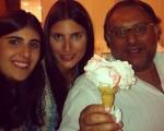 Sofia, Duda e Marcos Derani: o maior sorvete de Capri