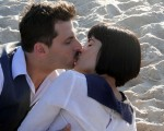 Henri Castelli e Vanessa Gíacomo: beijo técnico