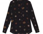 Camisa de seda da Mixed, no OQVestir