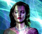 """She's Light"" holograma de Chris Levine"