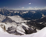 Panoramic view from Sass Pordoi, Dolomites, Italian Alps, Italy
