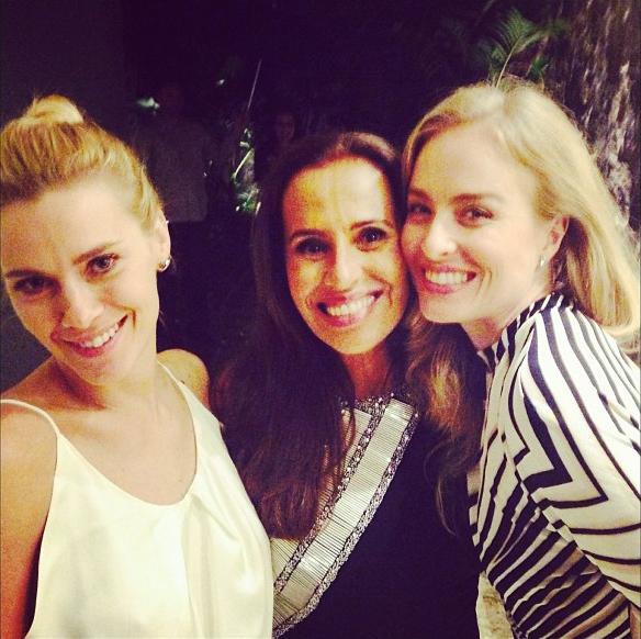 Bia com Angélica e Carolina Dieckmann