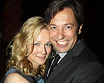 NEW YORK - OCTOBER 07:  Laura Linney and husband Marc Schauer pose at the Opening Night after party for