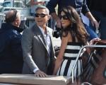 George Clooney e Amal Alamuddin chegando em Veneza, nessa sexta-feira