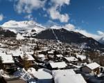 A vista do chalé em Verbier, na Suíça