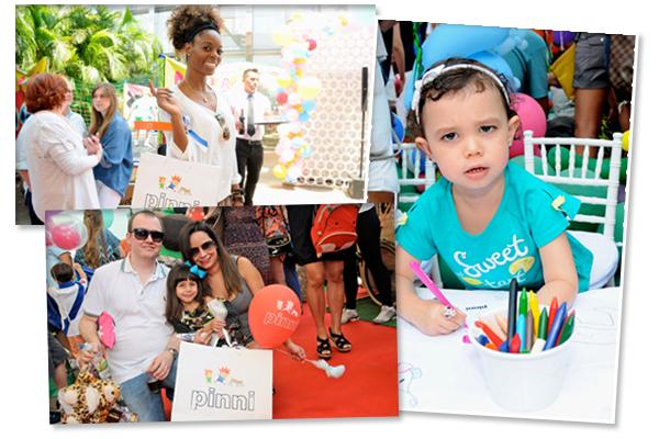 Pinni leva Dimi e Baletão ao piquenique do Glamurama no JK Iguatemi