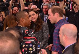 William e Kate batem bola com Beyoncé, Jay-Z e LeBron James em NY
