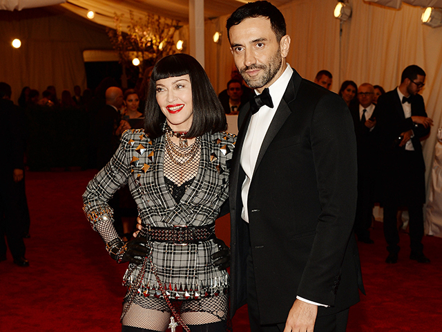 NEW YORK, NY - MAY 06:  Madonna and Riccardo Tisci attend the Costume Institute Gala for the