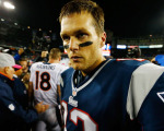 Tom Brady em campo pelo England Patriots