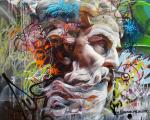 Trabalho da dupla de street art Pichi & Avo