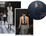 A coleção dia e noite para o inverno 2015 da Balenciaga. No canto direito, um clique de Alexander Wang recebendo aplausos na passarela, em Paris