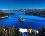 O lago Tahoe, nos Estados Unidos