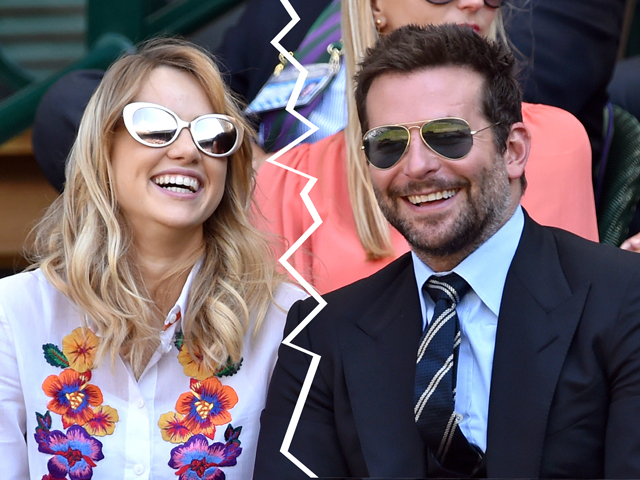 LONDON, ENGLAND - JULY 04:  Suki Waterhouse and Bradley Cooper attend the semi-final match between Roger Federer and Milos Raonic on centre court at The Wimbledon Championships at Wimbledon on July 4, 2014 in London, England.  (Photo by Karwai Tang/WireImage)