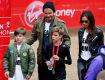 Família Beckham na maratona do pequeno Romeo    Créditos: Getty Images