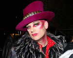 NEW YORK - DECEMBER 31:  Singer Boy George spins records and announces