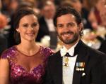 Sofia e Carlos Felipe durante compromissos reais