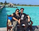 Preta Gil e Rodrigo Godoy chegaram nas Maldivas