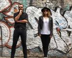 Leandra Leal com Alê Youssef em clique rock'n roll no bairro de Palermo
