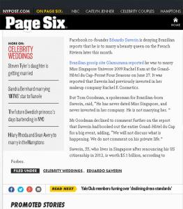 """É para comemorar: Glamurama é destaque mais uma vez no """"Page Six"""""""