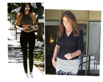 Kendall e Caitlyn Jenner chegando no restaurante Sugarfish Sushi, em Beverly Hills