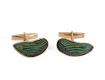 Abotoaduras de asas de besouro com emeralda da joalheira Silvia || Créditos: Divulgação