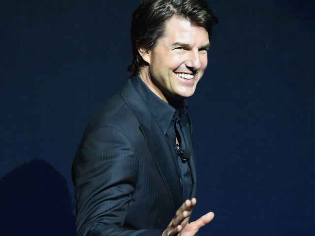 LAS VEGAS, NV - APRIL 21:  Actor Tom Cruise speaks onstage during The State of the Industry: Past, Present and Future and Paramount Pictures Presentation at The Colosseum at Caesars Palace during CinemaCon, the official convention of the National Association of Theatre Owners, on April, 21, 2015 in Las Vegas, Nevada.  (Photo by Michael Buckner/Getty Images for CinemaCon)