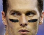O jogador do New England Patriots Tom Brady