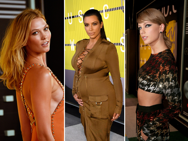 Kim, Taylor e no VMA 2015  ||  Créditos: Getty Images