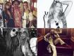 Em sentido horário, a cantora Kylie Minogue, Eva Cavalli, as tops Natasha Poly e Mina Cvetkovic e as duas novamente entre PeDJ || Créditos: Reprodução Instagram
