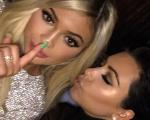 Kylie e Kim no aniversário da caçula nesse domingo