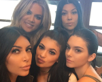 As irmãs Kim, Khloe, Kourtney, Kendall e Kylie