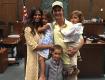 A família McConaughey em clique compartilhado por Matthew || Créditos: Reprodução Facebook