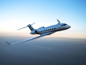 Jatinho que Gulfstream trouxe à Labace custa cerca de US$ 70 milhões