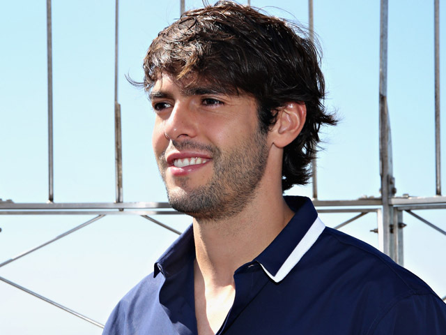 NEW YORK, NY - JULY 24:  Brazilian professional soccer midfielder Kaka visits the Empire State Building on July 24, 2015 in New York City.  (Photo by Cindy Ord/Getty Images)
