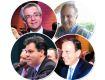 Andrea Matarazzo, Ricardo Tripoli, Bruno Covas e João Doria Jr. || Créditos: Paulo Freitas / André Ligeiro / Reprodução Facebook