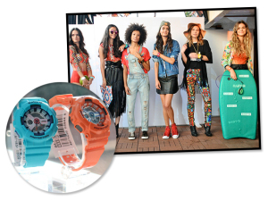 Casio organiza desfile para apresentar nova linha de relógios Baby-G