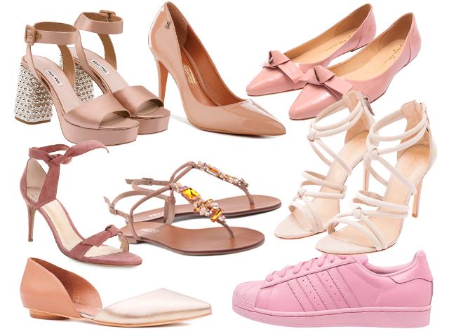 Resultado de imagem para imagens de calçados na cor rosa quartzo