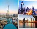 As paisagens de Dubai